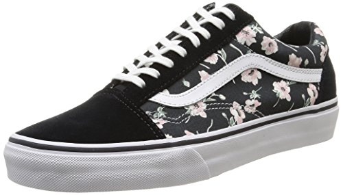 SHOES VANS OLD SKOOL FLORAL VINTAGE BLACK 38 5 Black