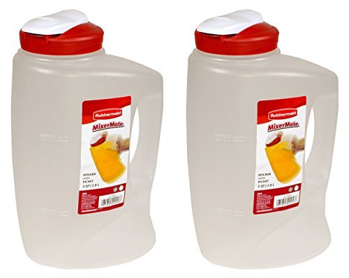 Rubbermaid 085275708066 1776501 3-Qt. Seal N' Saver Pitcher/Bottle (Pack of 2), 2 pack, Red ()