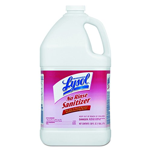 Professional Lysol No Rinse Sanitizer Concentrate, 4gal (4X1gal) Rinse Liquid