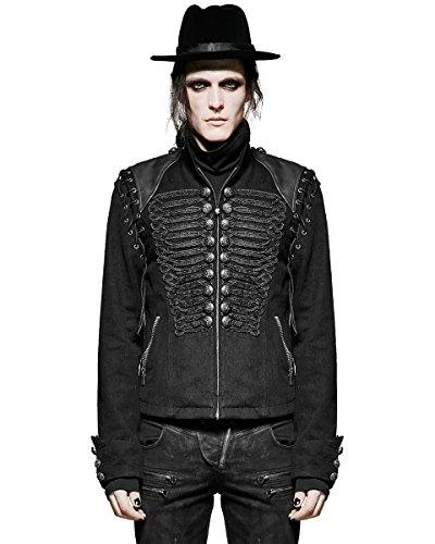Punk Rave Herren Jacke schwarz schwarz