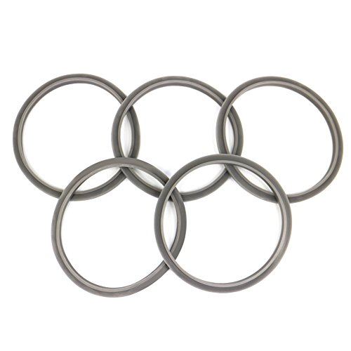 Set of 5 Gaskets with Lip by KORSMALL, Fits Nutribullet 900W Blenders