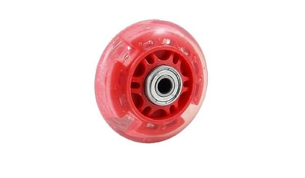Amazon.com : eDealMax plástico patinaje Zapatos del patín de ruedas 608ZZ Teniendo 2, 76 pulgadas de diámetro Claro Rojo : Sports & Outdoors