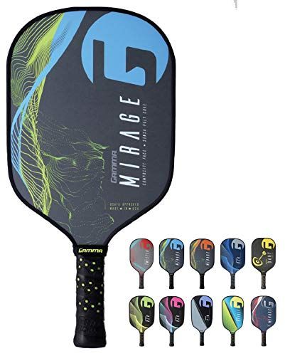 Gamma Mirage Composite Pickleball Paddle: Pickle Ball Paddles for Indoor & Outdoor Play - USAPA Approved Racquet for Adults & Kids - Blue/Yellow by Gamma (Image #9)