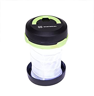 ** Cyber Monday Deal ** Winterial Pop-up Camping Lanterns with Built in Flashlight / SOS Strobe / LED Compact Light