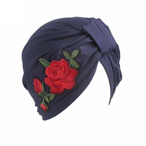 Scarface Mask (Sopety Women Ladies Boho Cancer Hat Beanie Scarf Turban Head Wrap Cap (Navy))