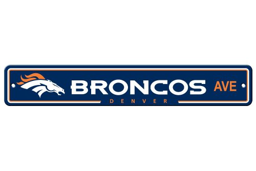 Denver Broncos Parking Sign - Fremont Die NFL Denver Broncos Plastic Street Sign