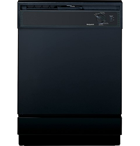 Hotpoint HDA2100HBB Built-In 24-Inch Dishwasher, Black, 5 Cycles / 2 Options