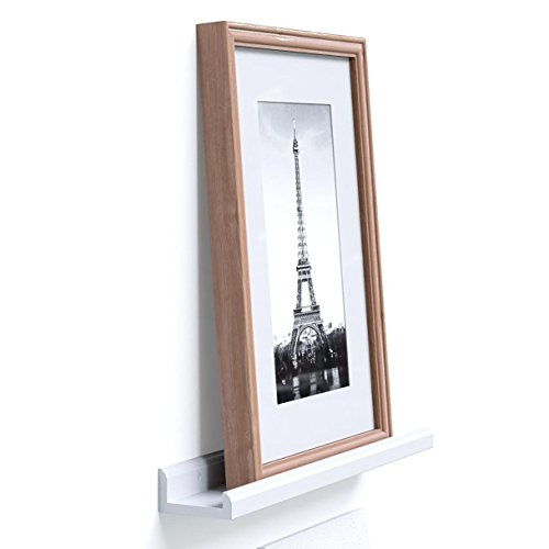 Wallniture Contemporary 22 Inch Space Saver Wall Mount Floating Shelves Picture Ledges White