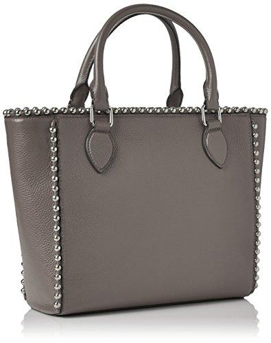 Love Moschino Borsa Vitello Pebble Grigio - Borse a spalla Donna, (Grey), 9x25x36 cm (B x H T)