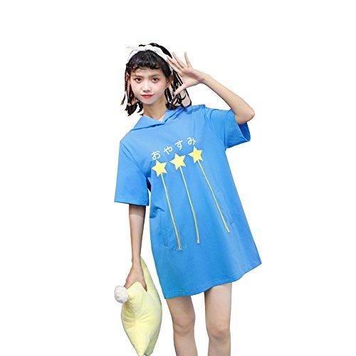 FutaiQjp シャツスカート ドレス ワンピース 半袖 チュニック トップス ロング ブラウス レディース シャツ ガールズ リゾート