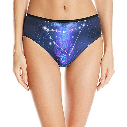 Constellation Zodiac Sign Capricorn Women's High Waist Briefs Underwear
