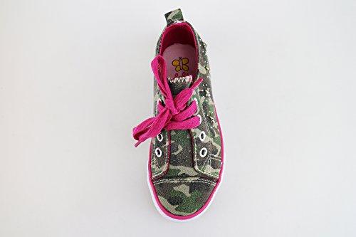 LULU' sneakers chica verde lona AG653