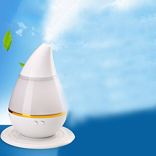 Mini USB Humidifier, Oversized Mist, Changing 7-Color Light Automatically,Keep 10-20 Square Meters Air Humidity, for Home\\Office ,Diffuse Water & Essential Oils