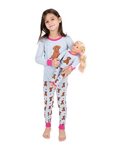 - Leveret Kids & Toddler Pajamas Matching Doll & Girls Pajamas 100% Cotton Pjs Set (Puppy Dog, Size 3 Toddler)
