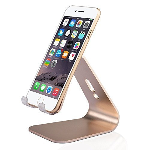 YW YUWISS Universal Micro-Suction Mobile Phone Desktop Stand Mount Holder Stander Cradle - Silver (Silver)
