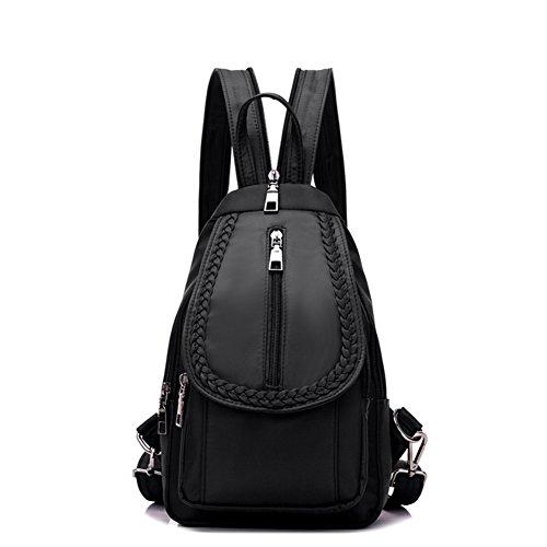 Las señoras chest pack,doble bandolera,mochila de viaje-Negro pequeña