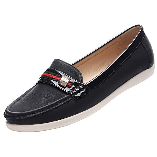 9c212bb39f0ff GUCHENG Casual Loafers Slip On Shoes Women's Flats Comfort Driving ...