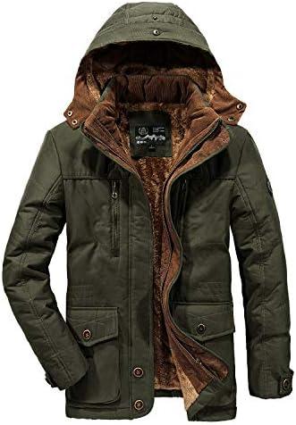 モッズコート メンズ ダウンジャケット コート 中綿入れ フード付き ファー付き 裏起毛 厚手 防寒防風 M-6XL大きいサイズ アウター