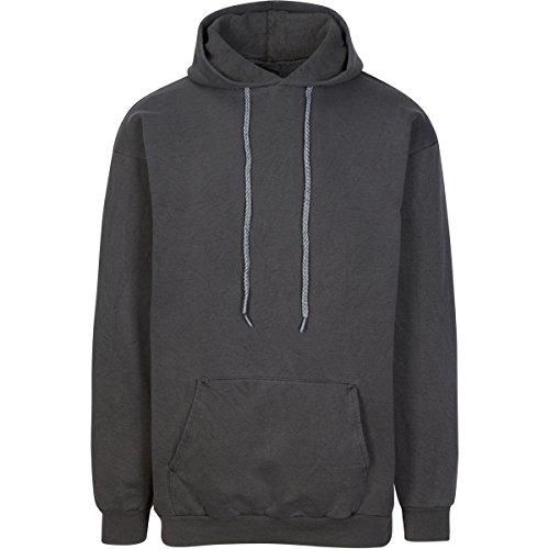 (Have It Tall Men's Pigment Dyed Heavyweight Hoodie Sweatshirt Asphalt 4XLT)