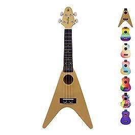 Honsing Kids Ukulele, Soprano Ukulele Beginner, Hawaii kids Guitar Uke Basswood 21 inches, Red Special Shape