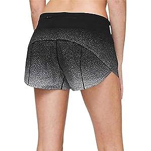 Lululemon Speed UP LR Short 2.5″ – OSSP/BLK ((Ombre Speckle Stop Print Speed Short White Black/Black)