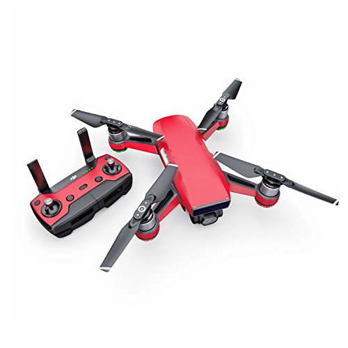Solid State Red Decal for drone DJI Spark Kit - Includes Drone Skin, Controller Skin and 1 Battery Skin