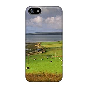New TLDickey Super Strong Beautiful Farms By The Sea Coast Tpu Case Cover For Iphone 5/5s