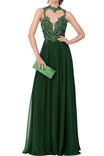 Elegant Dunkelgruen Chiffon Promkleider Festkleid Neu Lang Spitze 2017 Abendkleider Huntergruen Ivydressing BwqC1nCd