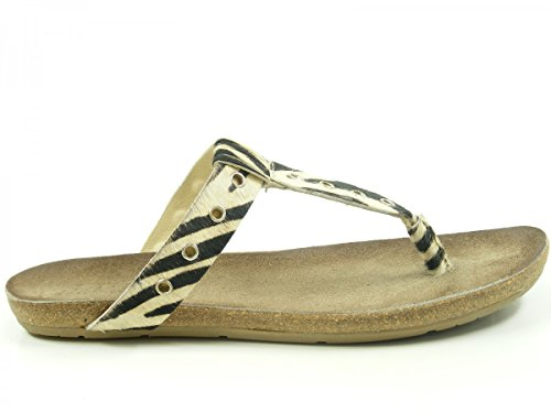 SPM 15695471 Lynx Schuhe Damen Zehentrenner Beige