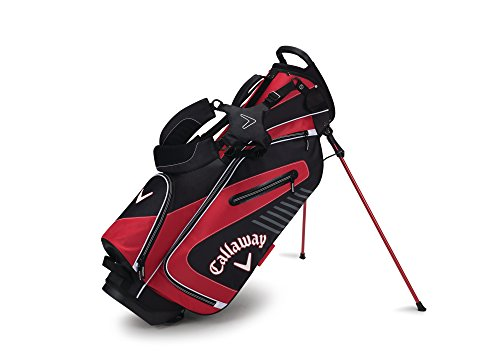 Callaway Golf 2017 Capital Stand Bag, Black/Red/White