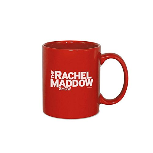 The Rachel Maddow Show Logo Ceramic Mug, Red 11 oz - Official Mug As Seen On MSNBC