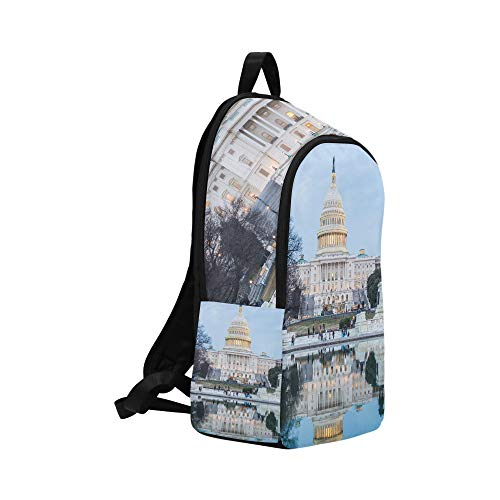 of Travel District Backpack Building at and Capitol Women Mens Night for in Casual College School Daypack Columbia Bag Cq1Xqzw