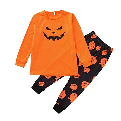 MEANIT Toddler Christmas Pajamas Set, 2 Piece Shirt Top & Pants, Kids Halloween Boy' Gift ()