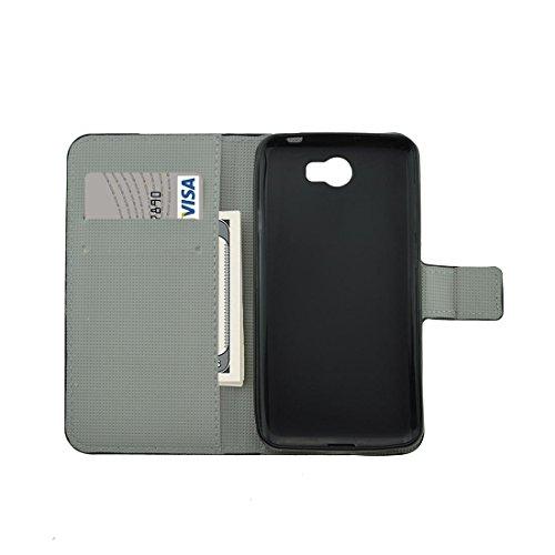 Mobile Phone Cases&decorate Para Huawei Y5 II flor brotes patrón horizontal Flip caja de cuero con el titular y ranuras para tarjetas y cartera ( SKU : Mlc0986c ) Mlc0986m