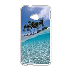 Beach HTC One M7 Cell Phone Case White F2937422