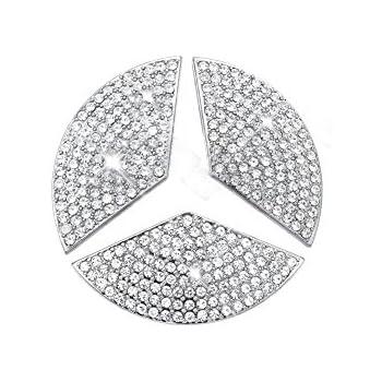 YIKA Car Steering Wheel Decorative Stickers for Mercedes-Benz New C E CLA  GLC GLE GLA Class(Diameter 48mm) 75b78e5d2ea2