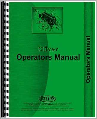 New Oliver 461 Cultivator Operator's Manual (Six Row Vegetable)