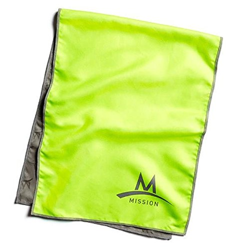 Mission Athletecare Enduracool Towel, Large, Volt Green