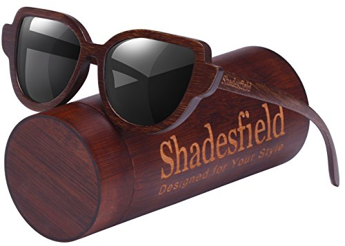 Cat Eye Polarized Wood Sunglasses for Women and Men-100% UV Protection, Full Wooden Frame - Sunglasses Polarized One