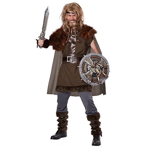Fur Costumes For Men (California Costumes Men's Mighty Viking Norse God, Brown, Small/Medium)