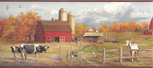 - Chesapeake HTM48431B Winslow Red American Farmer Portrait Wallpaper Border