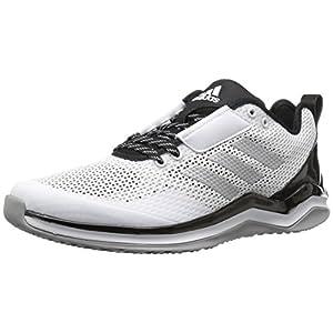 adidas Performance Men's Speed Trainer 3.0, White/Metallic Silver/Black, 11.5 Medium US
