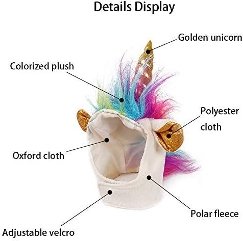 NACOCO Cat Unicorn Hat with Ear Hole for Small Dogs Puppy, Cat Costume Accessory for Halloween, Cosplay Mane Cap 21