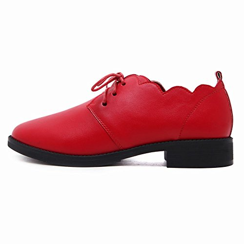 Red Shoes Toe Court Charm Round Mee up Women's Lace Shoes zwRqCBxg