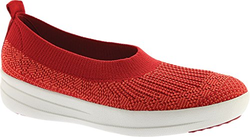 FitFlop Uberknit Slip-On Ballerina Shoes Classic Red UK6 Classic Red
