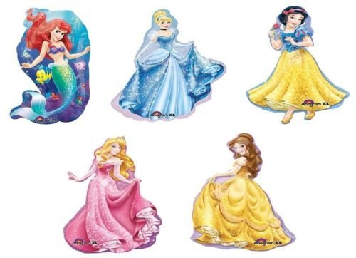 (LoonBalloon Ariel BELLE Sleeping Beauty SNOW WHITE Cinderella Disney Princess Mylar)