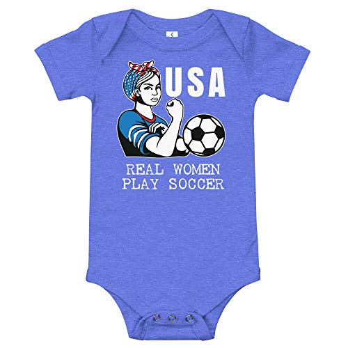 Amazingly Good Products USA Womens Soccer Kit France 2019 Girls Football Fans, Futbol T-Shirt Heather Columbia ()