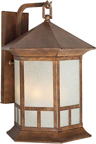 (Forte Lighting 1038-03 Outdoor 10Wx13.75Hx10.25E Wall Sconce, Rustic Sienna)