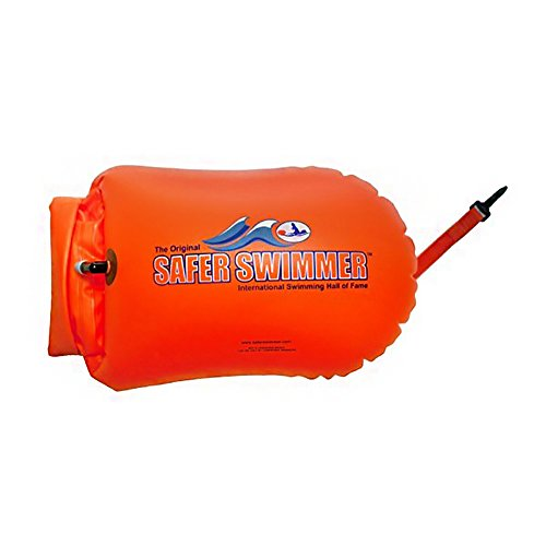 ISHOF SaferSwimmer Personal Swimming Float Large With Dry Storage Pouch Orange