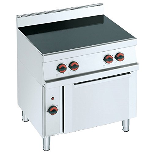 Macfrin 3311 Cocina Vitrocerámica de 4 Fuegos y Horno: Amazon.es ...